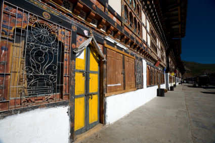 Bhutanese architecture in Paro